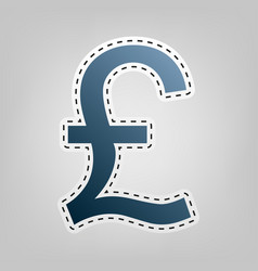 Turkish lira sign blue icon with outline vector