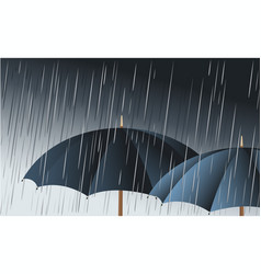 umbrellas in the rain vector image vector image
