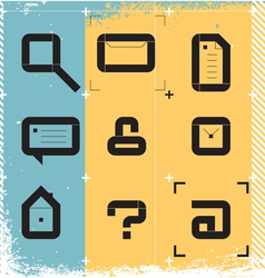 Urban icons for web vector image