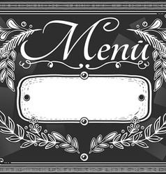 vintage graphic place card menu for bar or vector image vector image