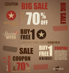 Word for Price tag sale coupon voucher vector image vector image