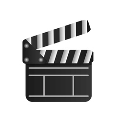 Single clapperboard icon vector