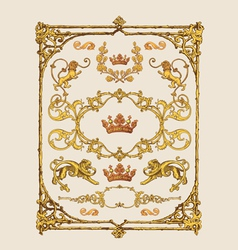 heraldic design elements vector image