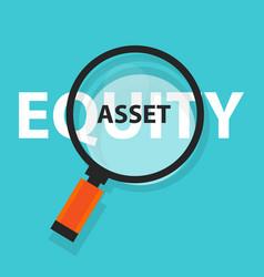 asset or equity cash flow concept business vector image