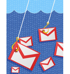 phishing mail vector image