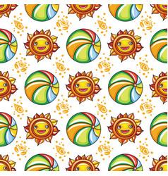 summer pattern series vector image