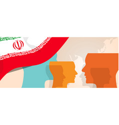 Iran concept of thinking growing innovation vector