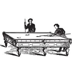 Playing pool vector