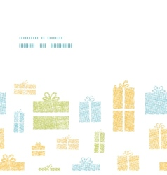 Colorful gift boxes textile texture horizontal vector
