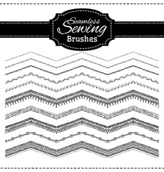 Set of sewing brushes vector