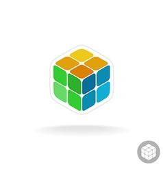 Abstract cube box logo vector image
