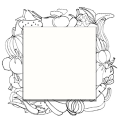 Banner with fresh vegetables vector