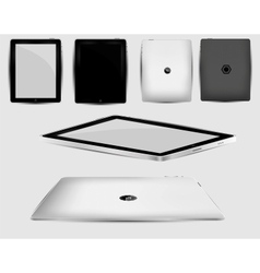 Black abstract tablet pc on white vector