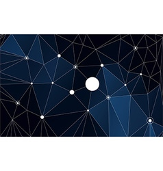Abstract triangle polygonal background vector