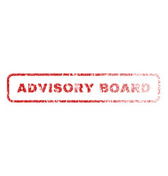 Advisory board rubber stamp vector