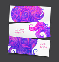 Banners with hair vector