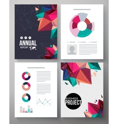 Brochure template design for an annual project vector image vector image