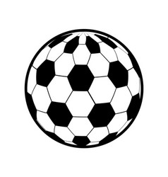 Color ball to play soccer icon vector