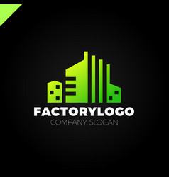 construction firm factory or manifacture logo or vector image vector image