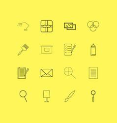 Design elements linear icon set simple outline vector