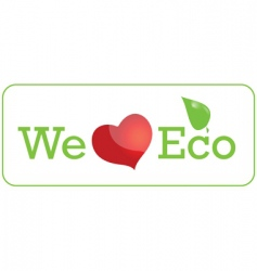 eco sticker vector image