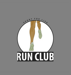 Emblem for club runners vector