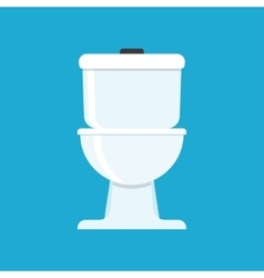 Flat icon for toilet vector image vector image