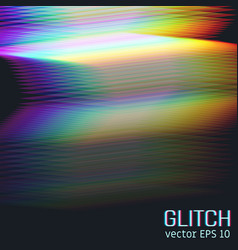 glitch effect of horizontal stripes vector image
