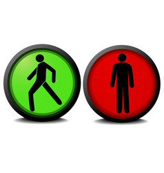 Green and red traffic lights vector