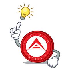 Have an idea ark coin mascot cartoon vector