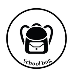 Icon of School rucksack vector image