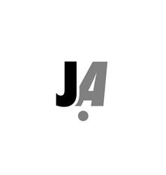 ja j a black white grey alphabet letter logo icon vector image vector image