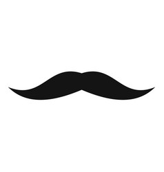 Neat mustache icon simple style vector
