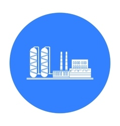 Oil refinery factory icon in black style isolated vector