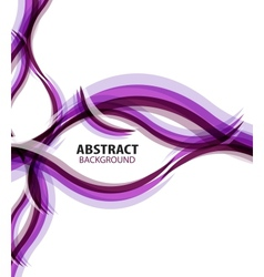 Purple waves modern business abstract background vector image
