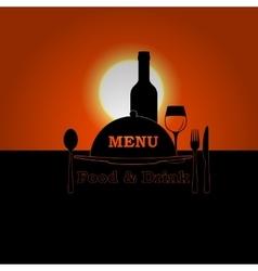 restaurant menu sunset or sunrise vector image vector image