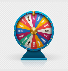 roulette 3d fortune wheel isolated vector image vector image