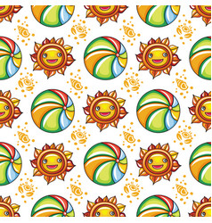 summer pattern series vector image