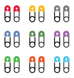 Thumbtack icon set vector