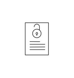 Unlocked document icon vector