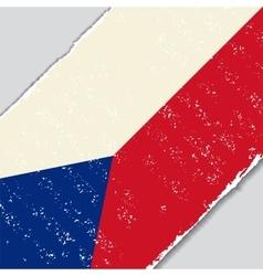 Czech grunge flag vector