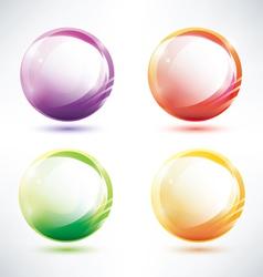 set of abstract glosy circles vector image