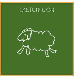 Of animal symbol on sheep vector