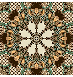 Retro paisley seamless pattern vector