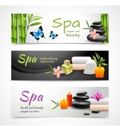 Realistic spa banners vector