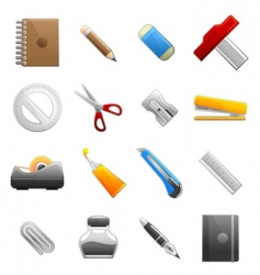stationery object set vector image