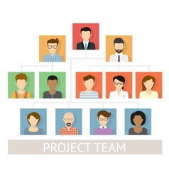 Project team organization vector