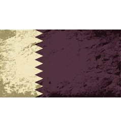 Qatar flag grunge background vector