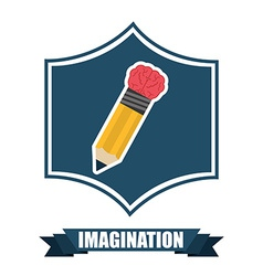 Imagination icon vector