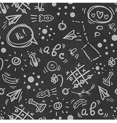 Seamless doodle hand drawn pattern back to school vector